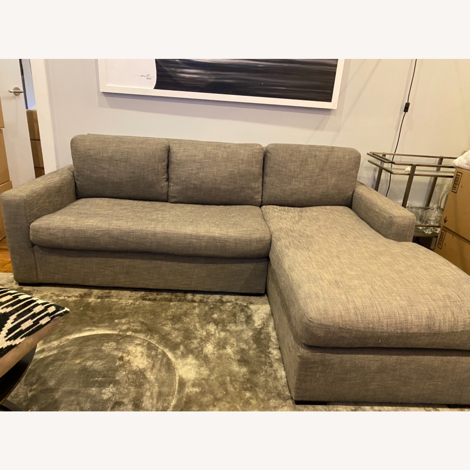 Restoration Hardware Maxwell Right Arm Chaise - image-1
