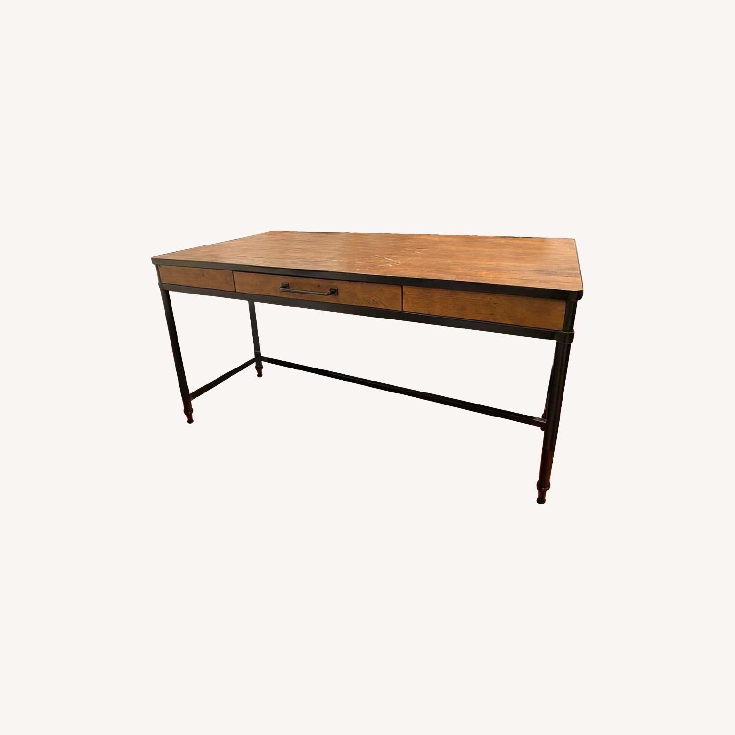 Pottery Barn Juno Reclaimed Pine Desk - image-0