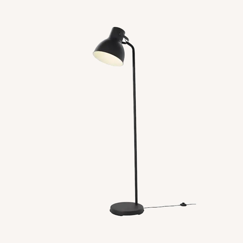 IKEA HEKTAR Floor Lamp with LED Bulb Dark Gray - image-0