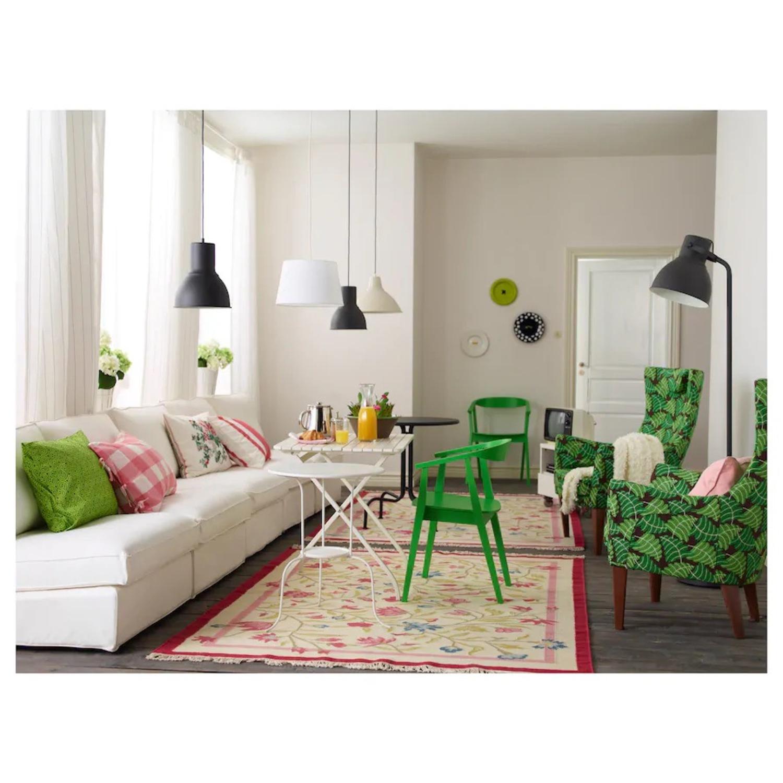 IKEA HEKTAR Floor Lamp with LED Bulb Dark Gray - image-4
