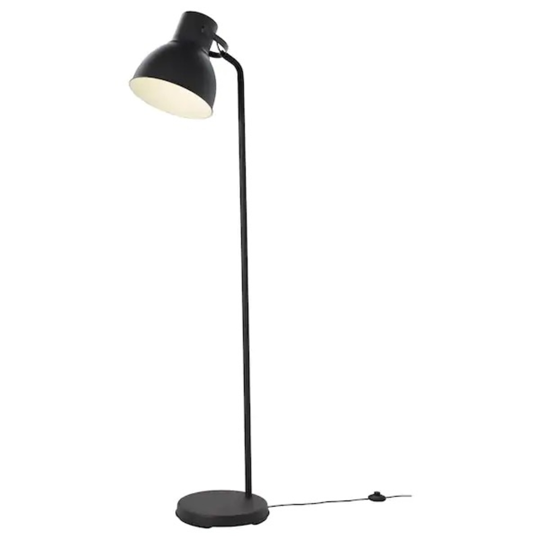IKEA HEKTAR Floor Lamp with LED Bulb Dark Gray - image-2