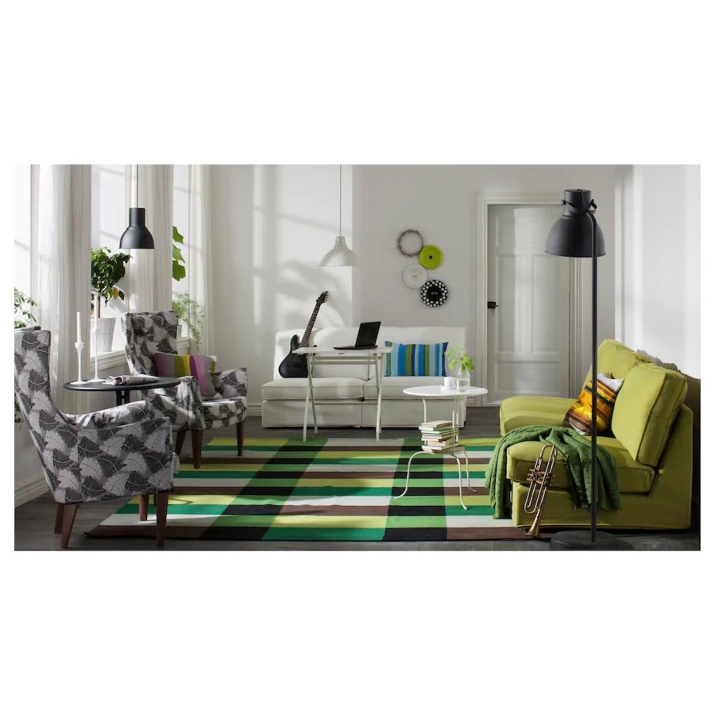 IKEA HEKTAR Floor Lamp with LED Bulb Dark Gray - image-5
