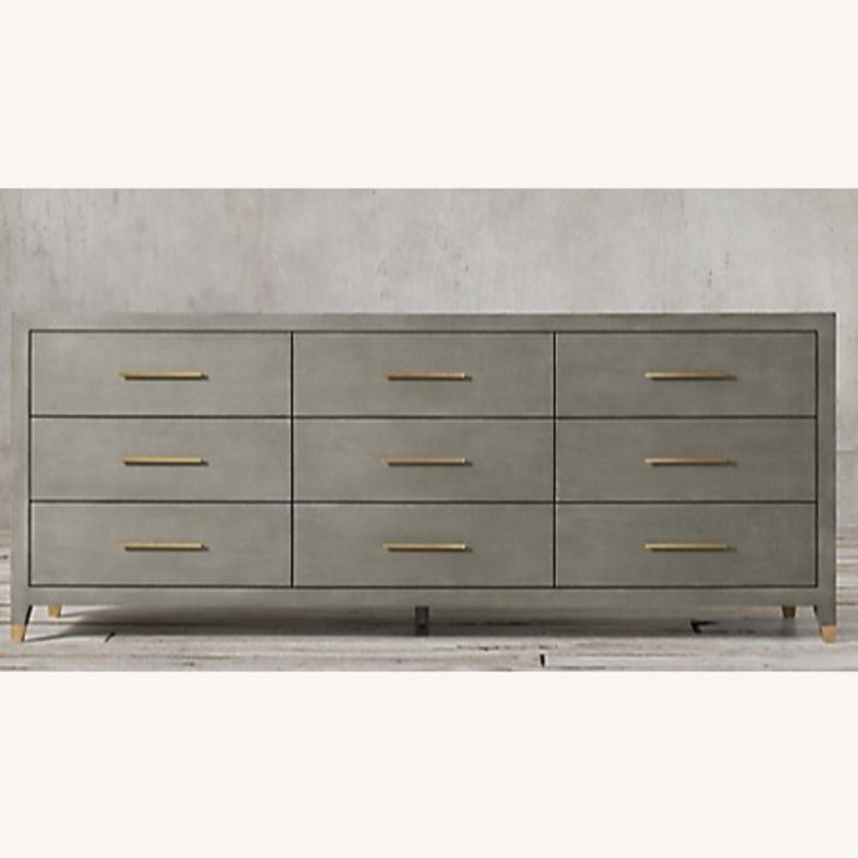 Restoration Hardware Graydon Shagreen Dresser - image-5
