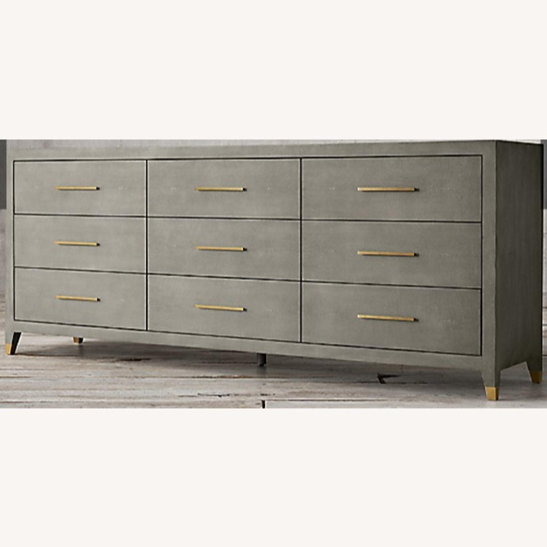 Restoration Hardware Graydon Shagreen Dresser - image-4