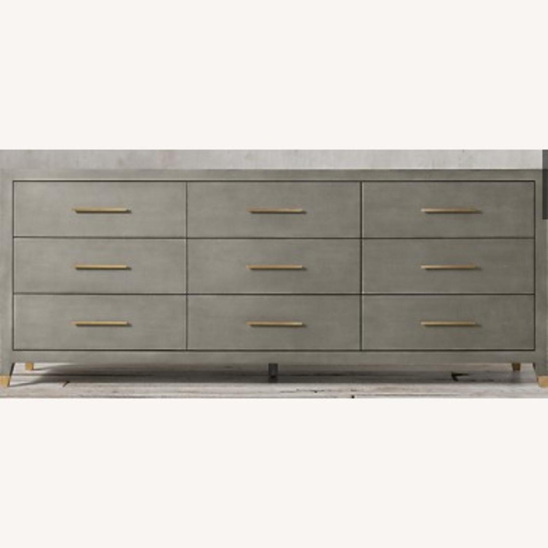 Restoration Hardware Graydon Shagreen Dresser - image-3