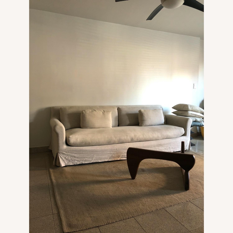 Restoration Hardware Belgian Linen Sofa Sand - image-2