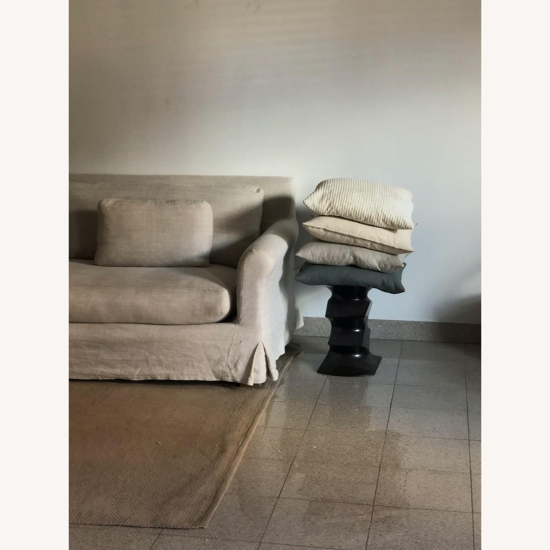 Restoration Hardware Belgian Linen Sofa Sand - image-3