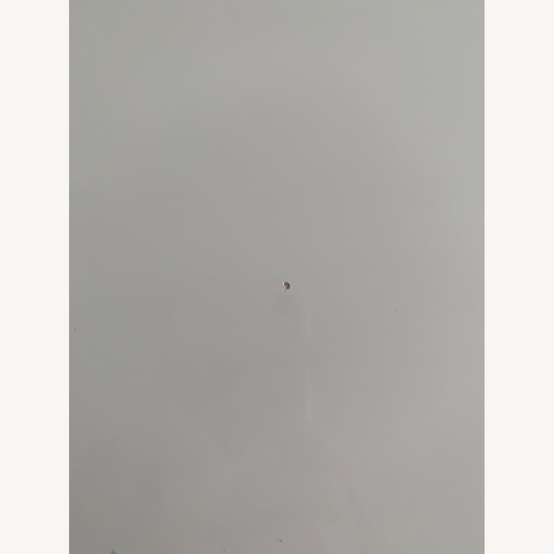 CB2 White Laminate 2 Drawer Desk - image-5