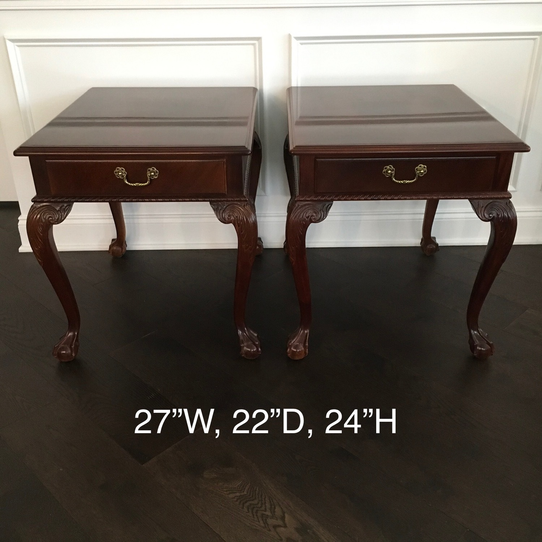 Ethan Allen Mahogany End Tables - image-1