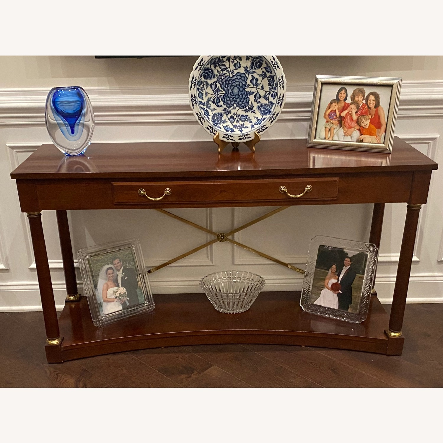 Ethan Allen Cherry Console Sofa/Hall Table - image-5