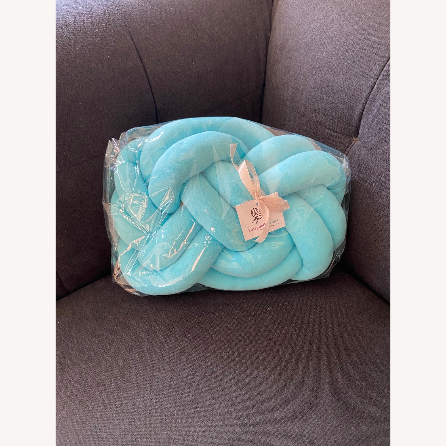Large Knot Pillow Decorative Cushion - image-3