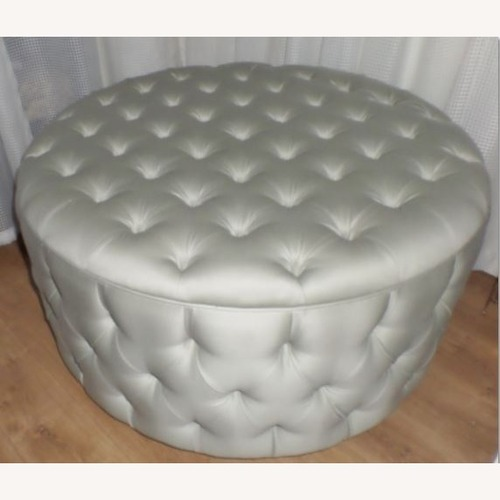 Used George Smith Tufted Woold Ottoman for sale on AptDeco