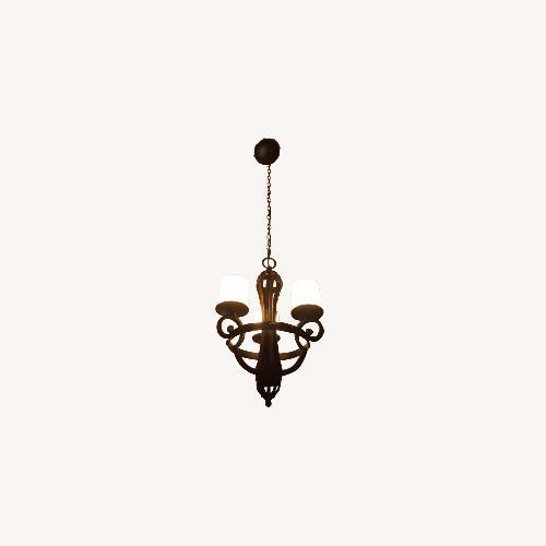 Used Uttermost Rod Iron Pendant Light for sale on AptDeco