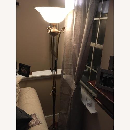 Used 2 Uttermost Metal Floor Lamps for sale on AptDeco