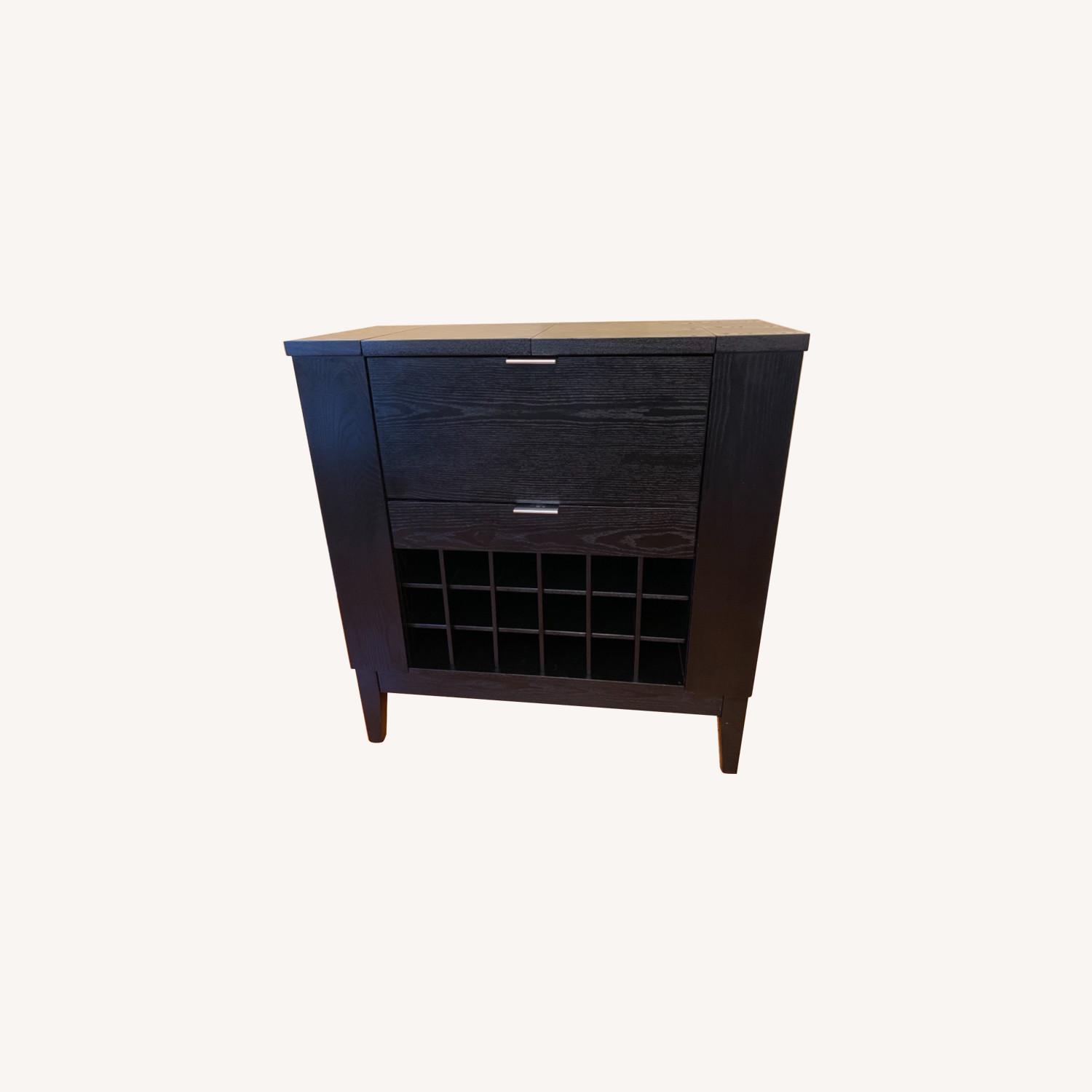 Crate & Barrel Bar & Spirits Cabinet - Espresso - image-0