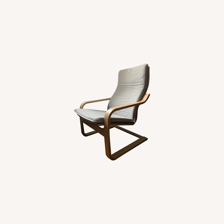 IKEA Armchair birch/light gray - image-0