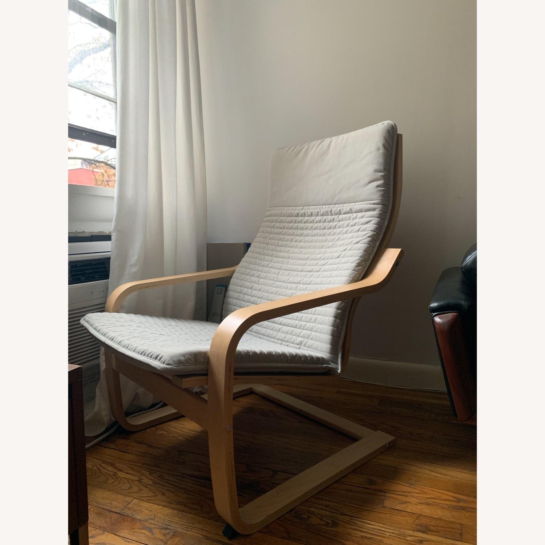 IKEA Armchair birch/light gray - image-1