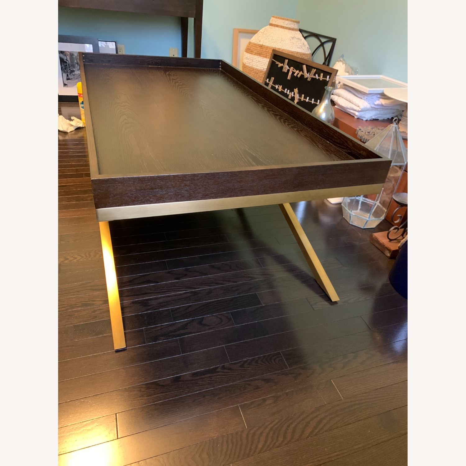 Vanguard Wood & Brass Coffee/Cocktail Table - image-5