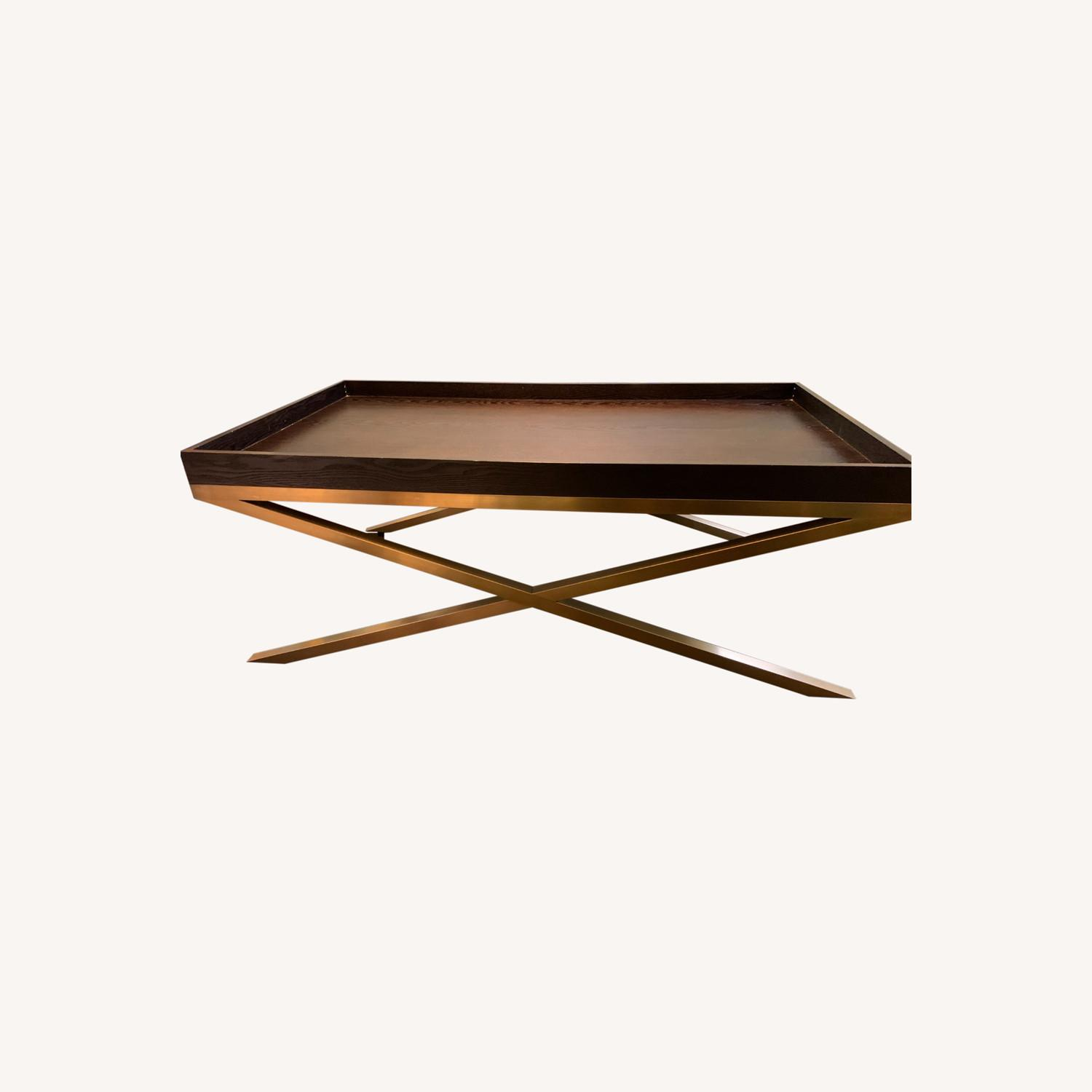 Vanguard Wood & Brass Coffee/Cocktail Table - image-0