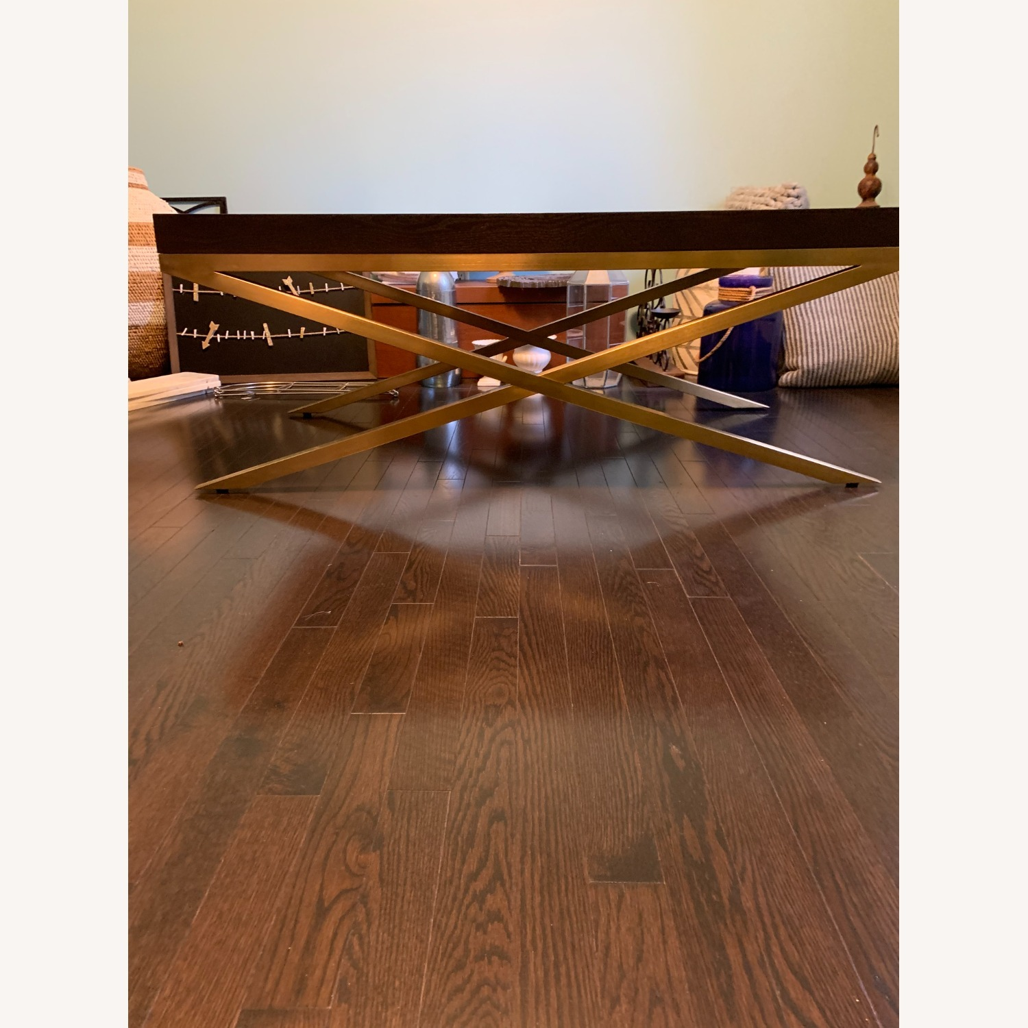 Vanguard Wood & Brass Coffee/Cocktail Table - image-9