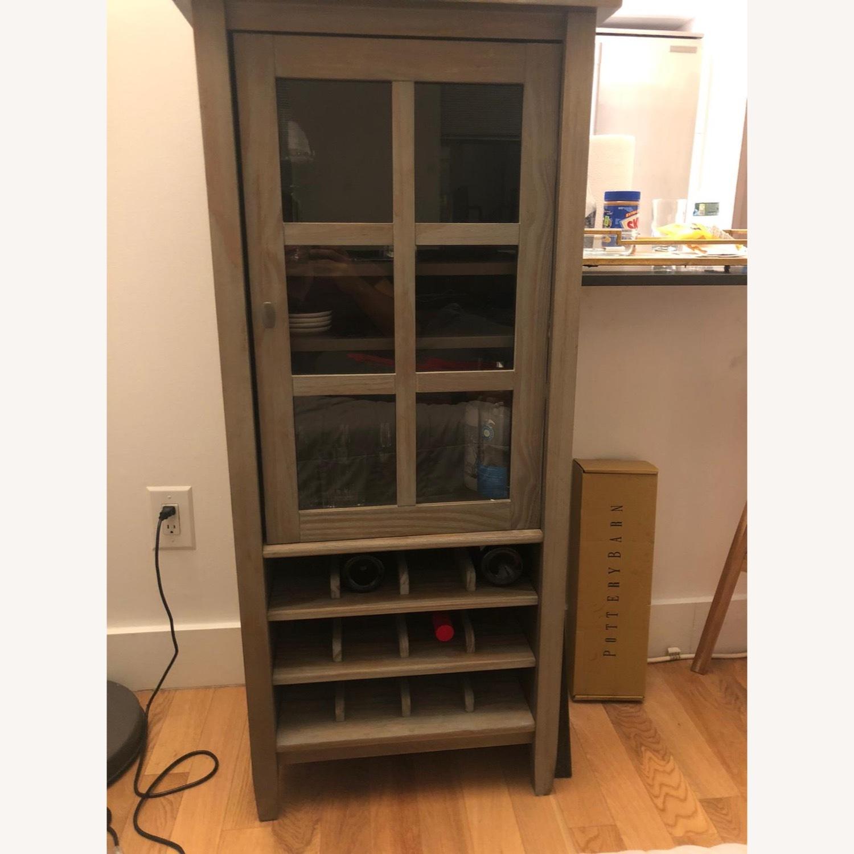 Wayfair Solid Wood Bar/Wine Cabinet - image-1