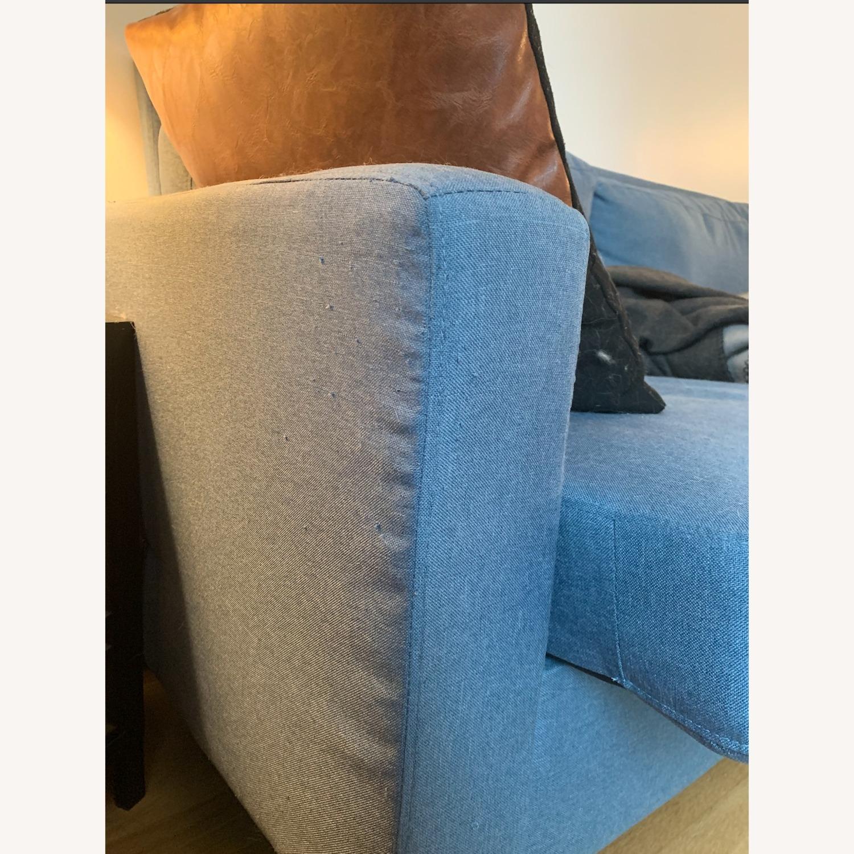 Mainstays Light Blue Sofa - image-2