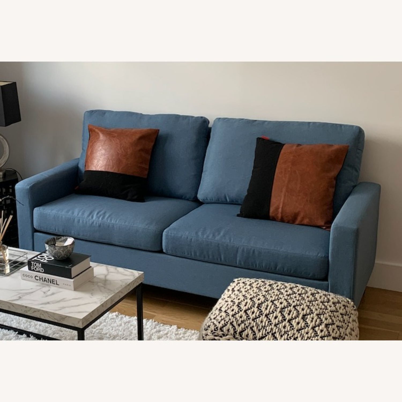 Mainstays Light Blue Sofa - image-3
