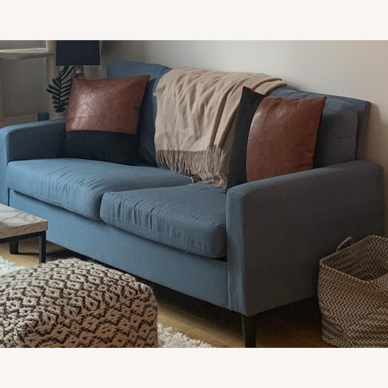 Mainstays Light Blue Sofa - image-4
