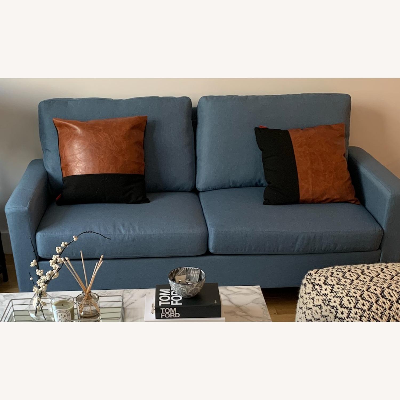 Mainstays Light Blue Sofa - image-1
