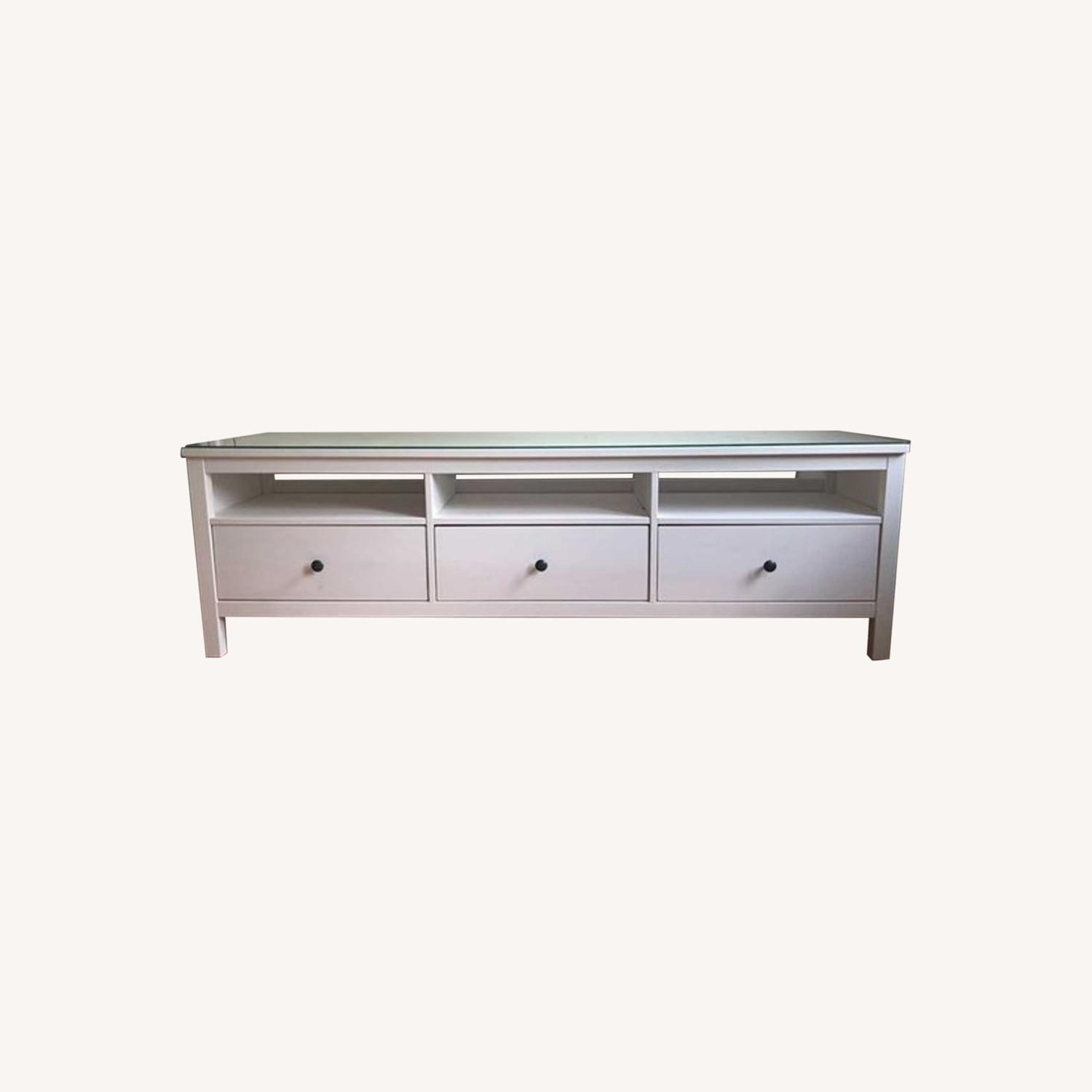 IKEA Hemnes TV Unit With Glass Top - image-0
