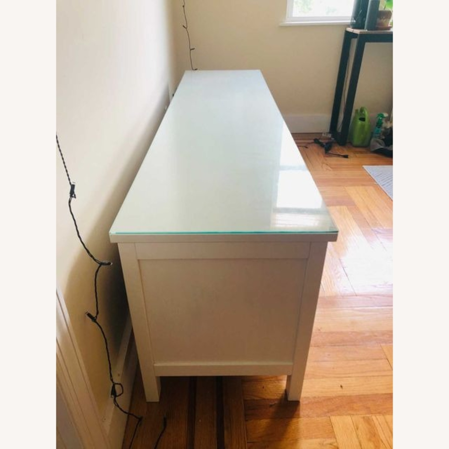 IKEA Hemnes TV Unit With Glass Top - image-4