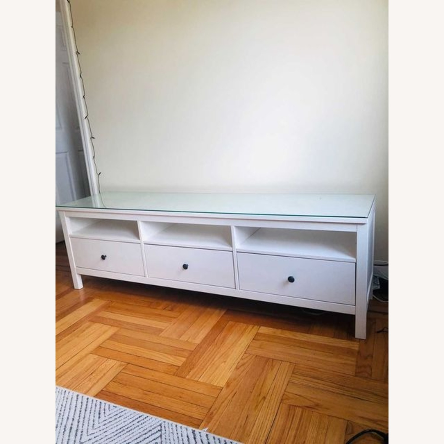 IKEA Hemnes TV Unit With Glass Top - image-3