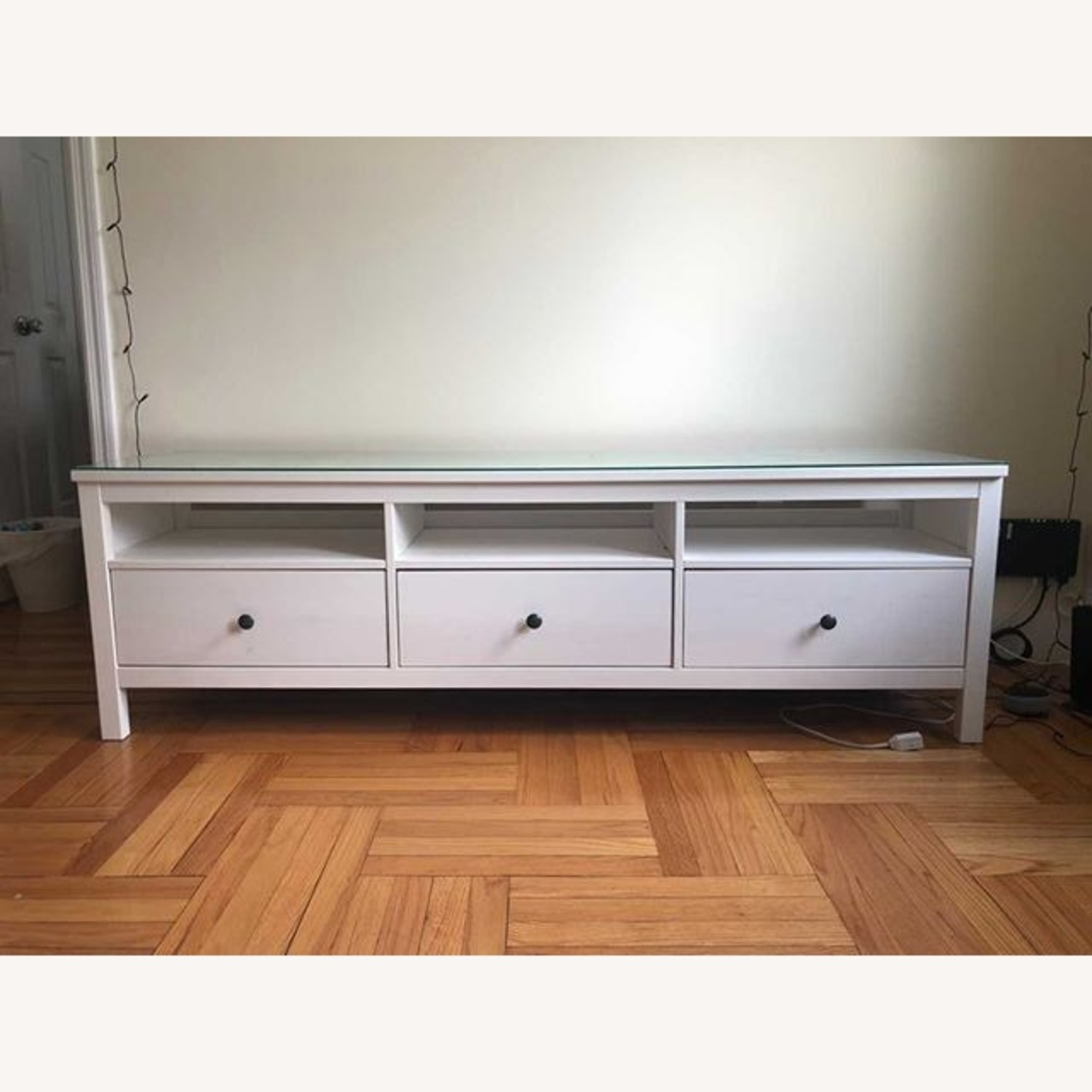 IKEA Hemnes TV Unit With Glass Top - image-2