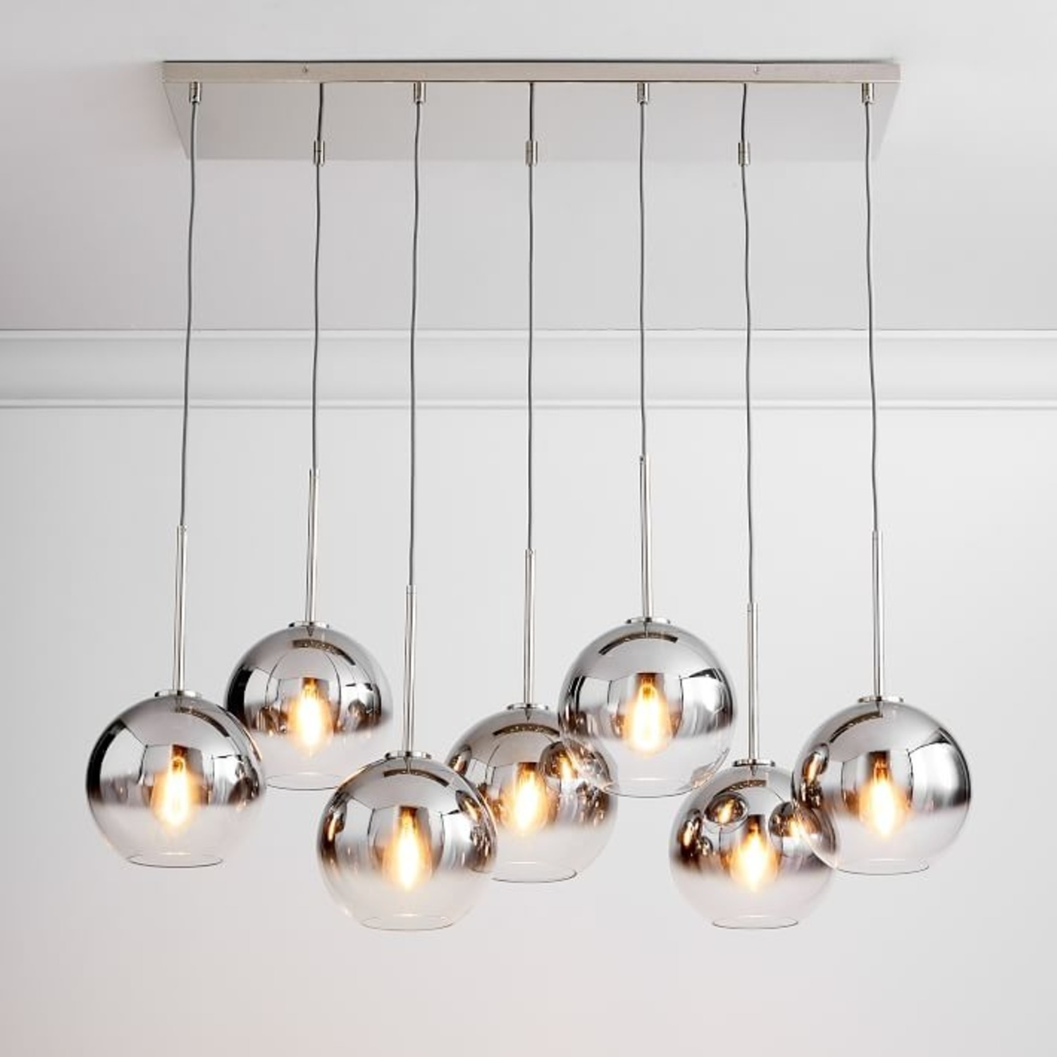West Elm Sculptural 7-Light Chandelier - image-3