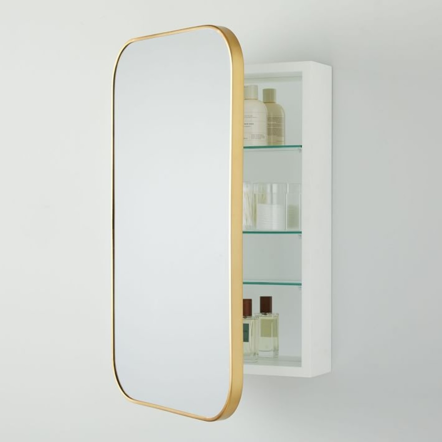 West Elm Seamless Medicine Cabinets, Antique Brass - image-3
