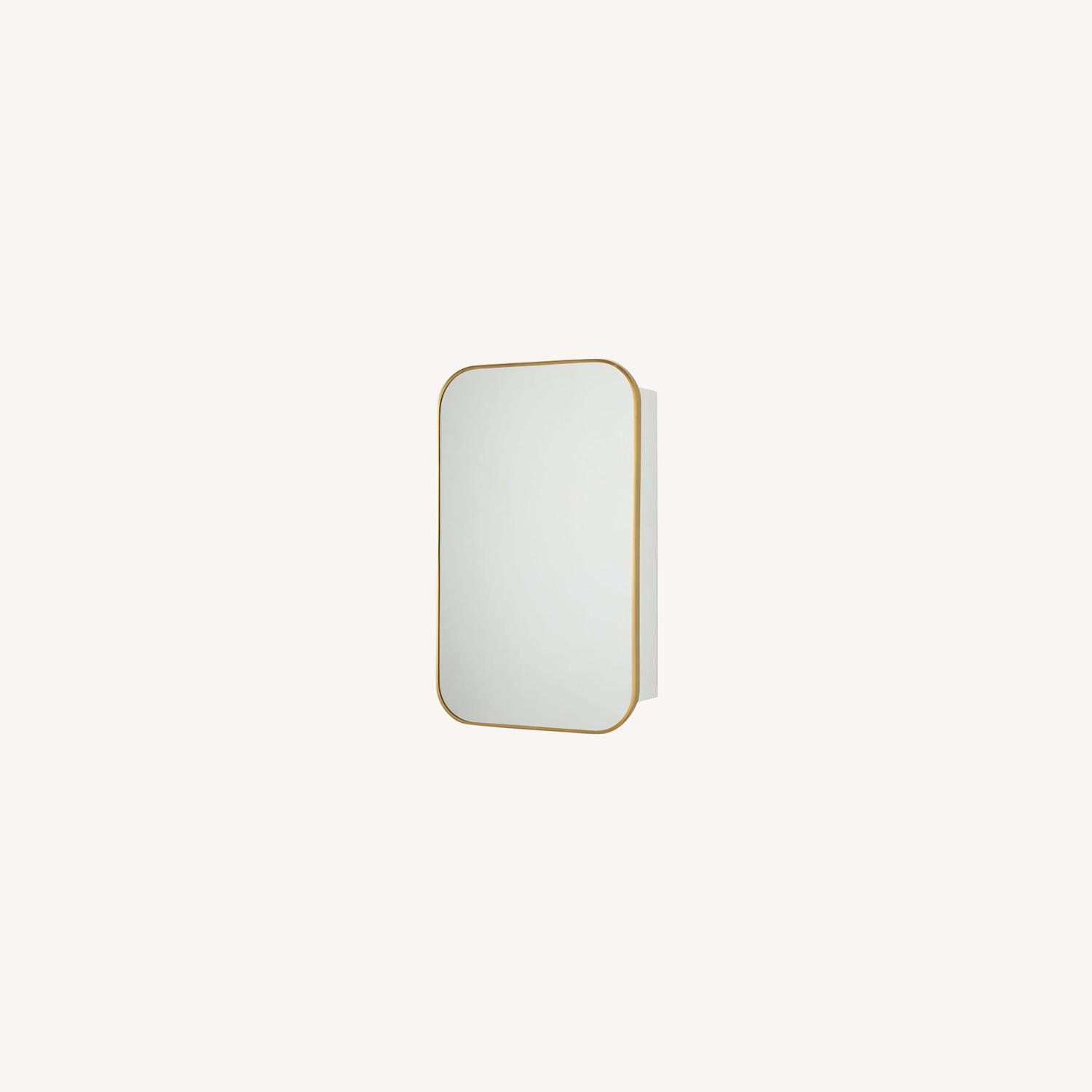 West Elm Seamless Medicine Cabinets, Antique Brass - image-0