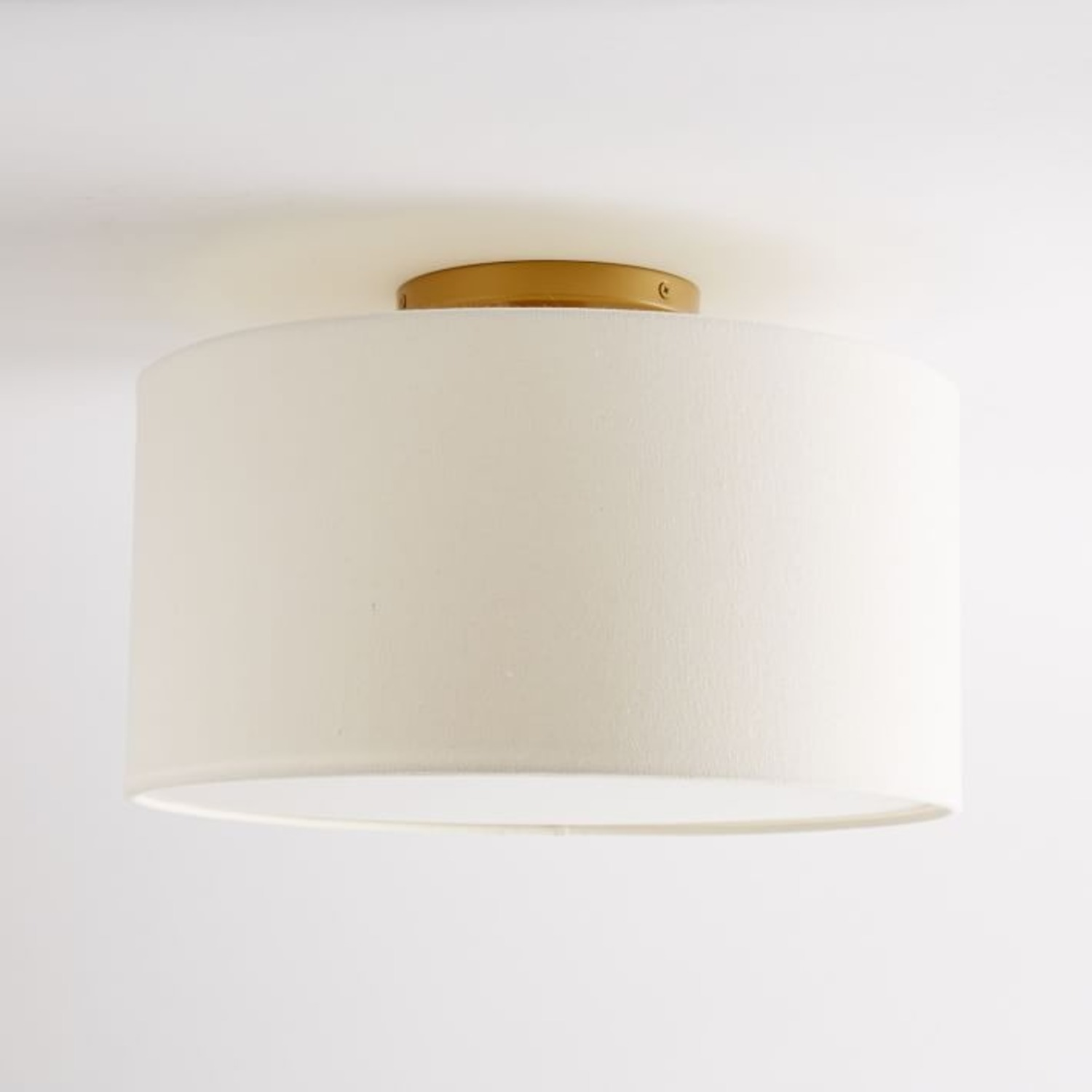 West Elm Fabric Shade Flush Mount - image-3