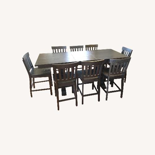 Used Huffman Koos Harper 9Pc Dining Set for sale on AptDeco