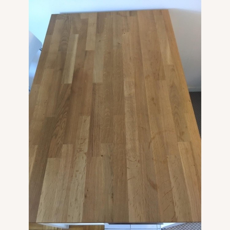 ikea stenstorp kitchen island w/ shelves & stools - aptdeco