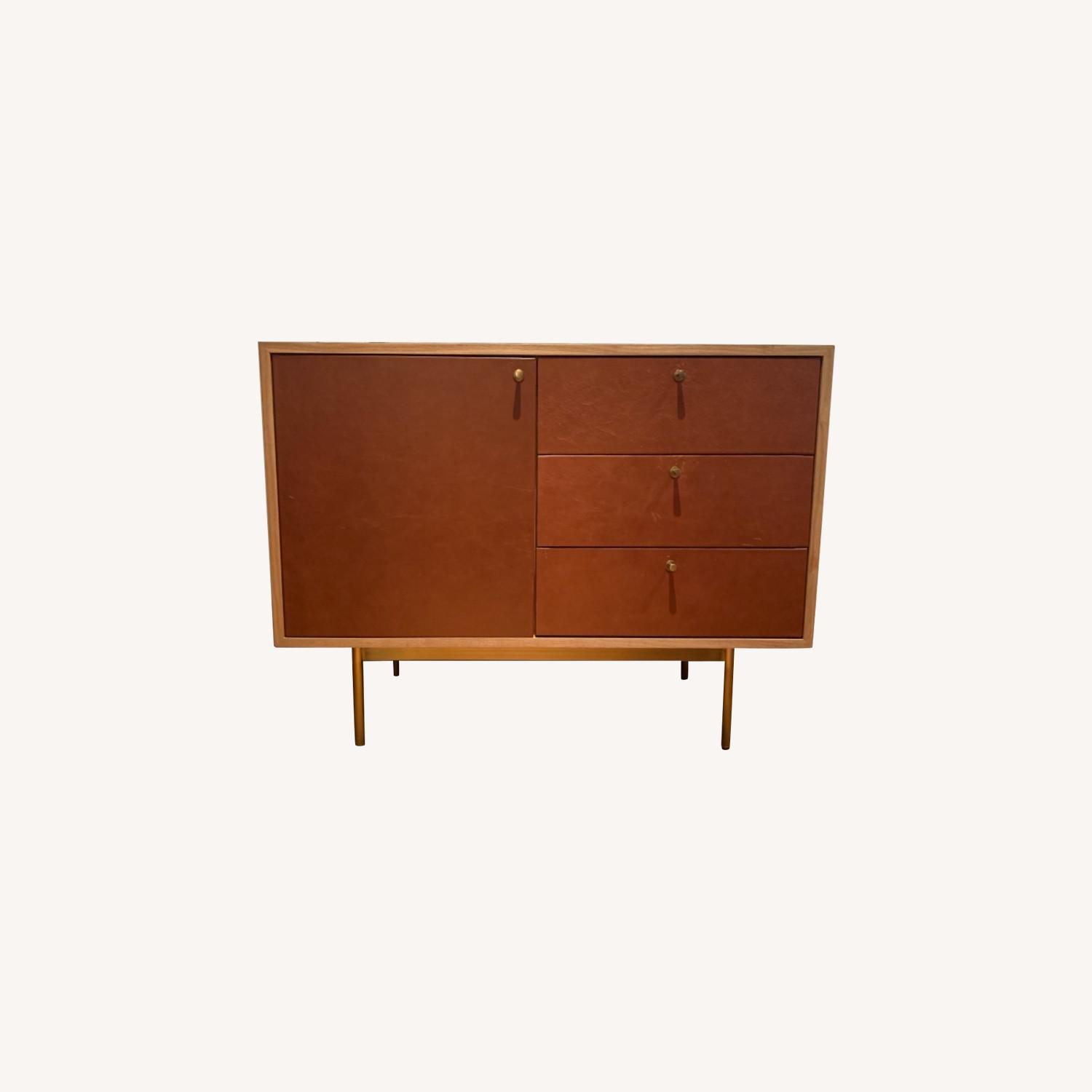 West Elm Michael Robbins Leather Front Sideboard - image-0
