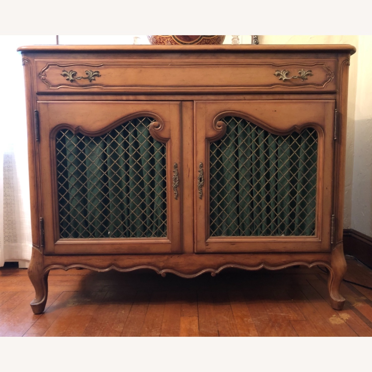 Antique Cherry Wood Sideboard - image-1