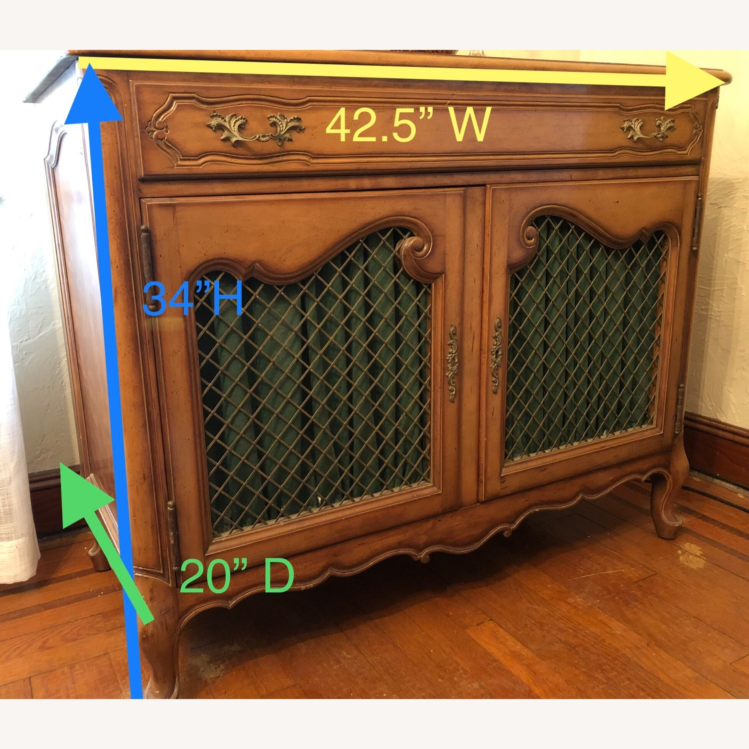Antique Cherry Wood Sideboard - image-2