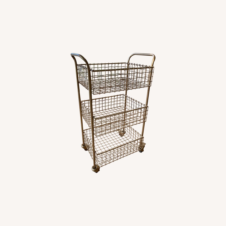 Gold Kitchen Cart - image-0