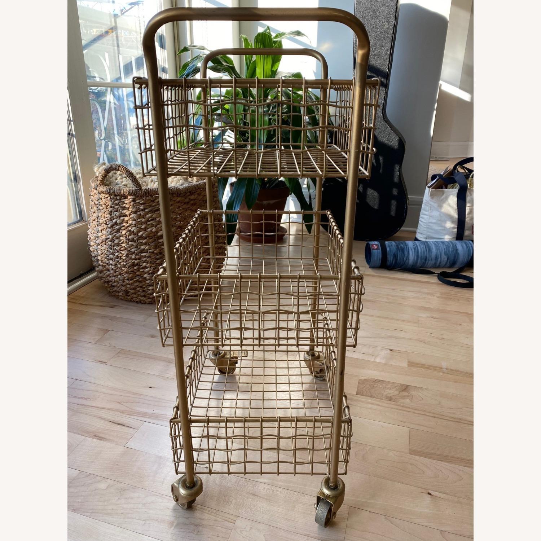 Gold Kitchen Cart - image-2