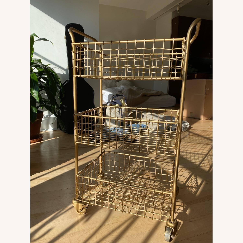 Gold Kitchen Cart - image-3