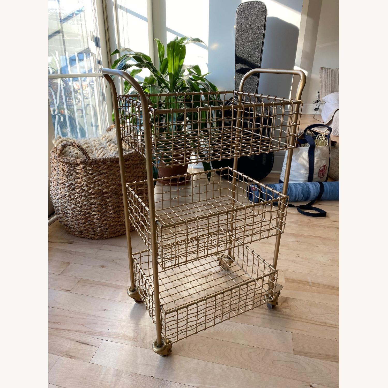 Gold Kitchen Cart - image-1