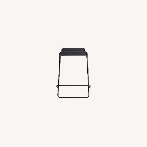 Used Blu Dot Stacking Black Counter Stool for sale on AptDeco