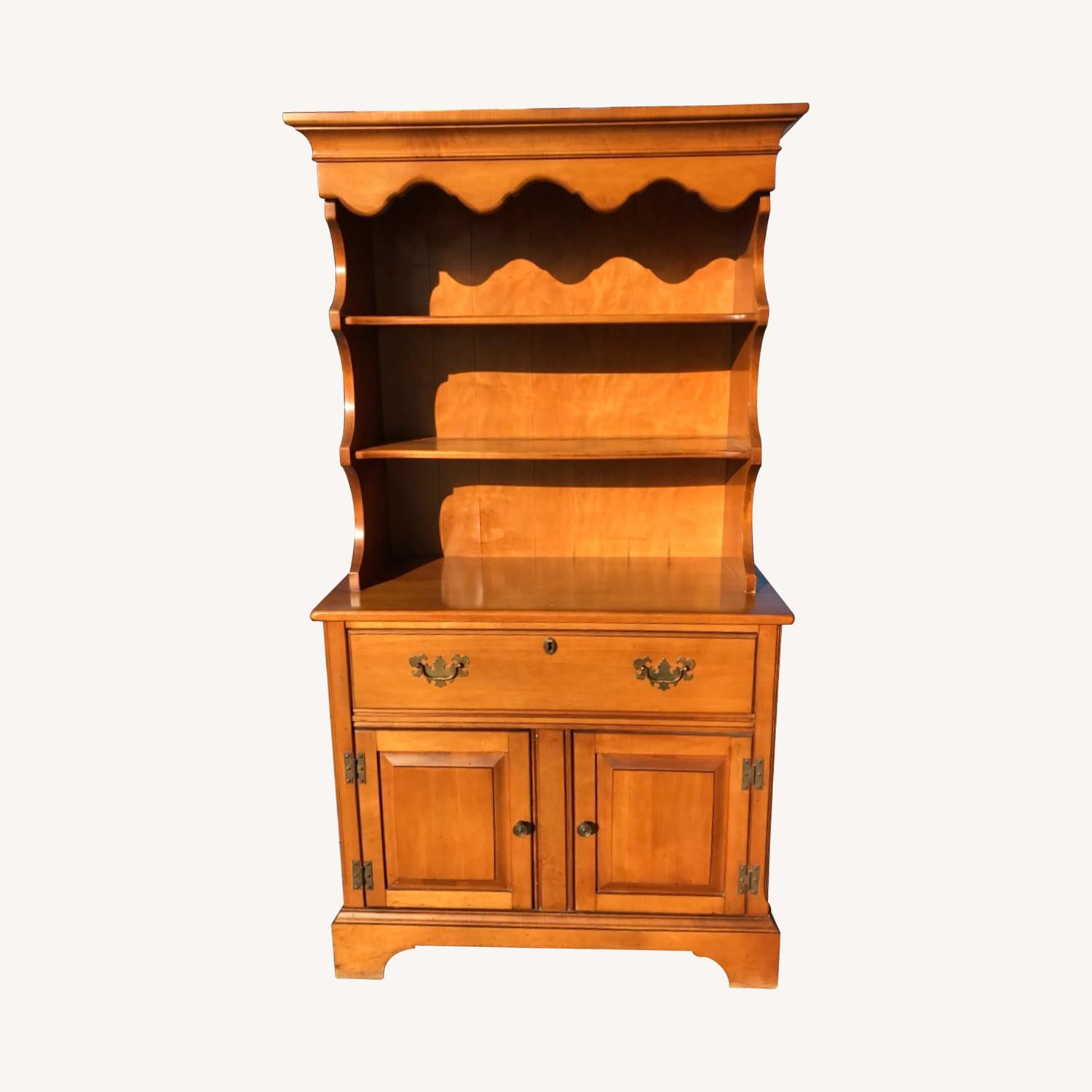 Vintage 1960s Maple Cabinet With Hutch - image-0