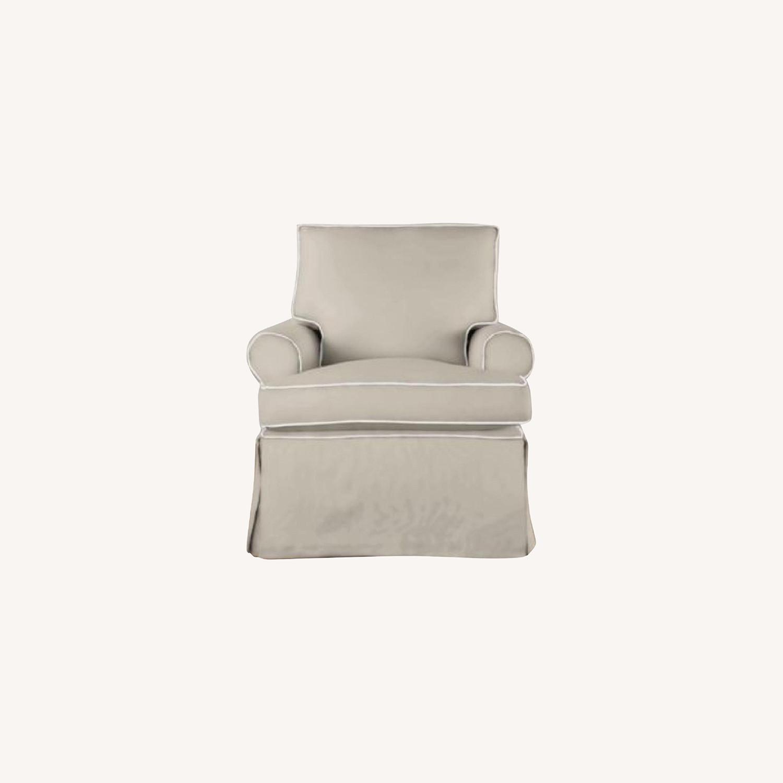 Restoration Hardware Roll Arm Swivel Glider Chair - image-0