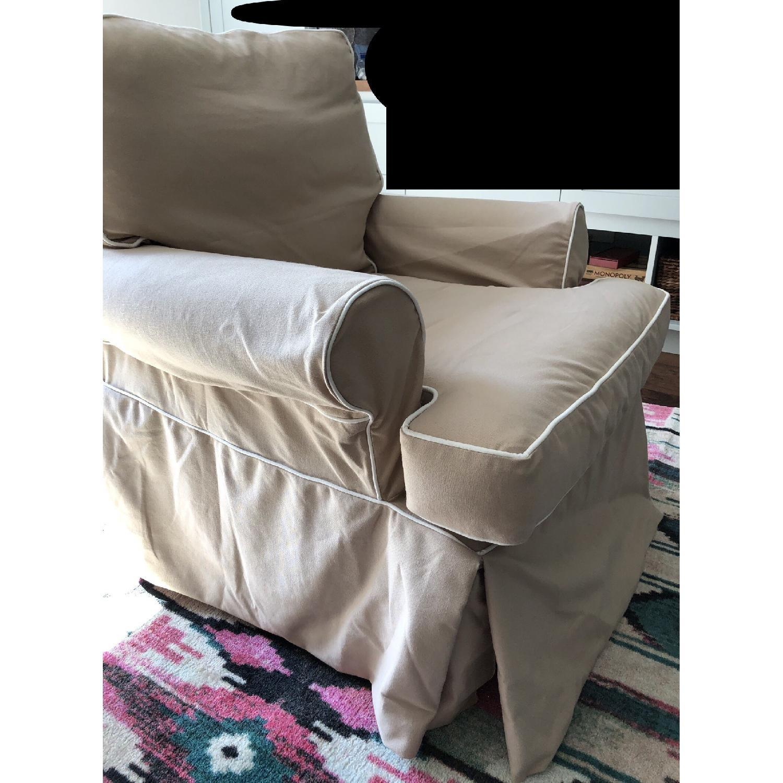 Restoration Hardware Roll Arm Swivel Glider Chair - image-4